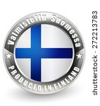 produced in sweden label.... | Shutterstock .eps vector #272213783