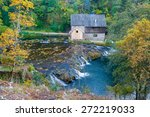Old Mill House On River...