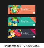set of banners with stickers ... | Shutterstock .eps vector #272219858