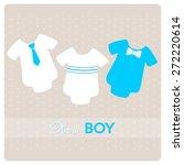 baby shower invitation card ...   Shutterstock .eps vector #272220614