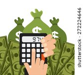 money concept design  vector... | Shutterstock .eps vector #272224646