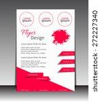 vector flyer  brochure ... | Shutterstock .eps vector #272227340