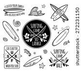 surfing logos vector set   Shutterstock .eps vector #272231150