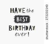 happy birthday greeting card....   Shutterstock .eps vector #272232140