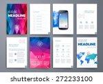 template. vector brochure... | Shutterstock .eps vector #272233100