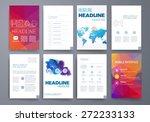 template. vector brochure... | Shutterstock .eps vector #272233133