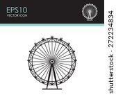 ferris wheel vector icon. | Shutterstock .eps vector #272234834