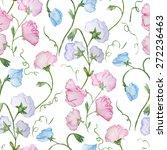 cute vector watercolor seamless ... | Shutterstock .eps vector #272236463