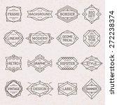 modern hipster linear geometric ... | Shutterstock .eps vector #272238374