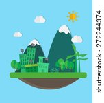 green city  vector illustration | Shutterstock .eps vector #272244374
