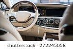 luxury car interior details.... | Shutterstock . vector #272245058