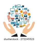 shopping online design  vector...   Shutterstock .eps vector #272245523