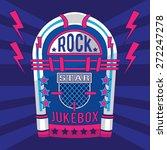 Music Rock Juke Box Typography...
