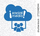 social media design  vector... | Shutterstock .eps vector #272248544