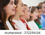 group of school children... | Shutterstock . vector #272254136