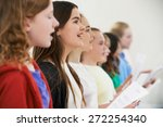 group of school children... | Shutterstock . vector #272254340