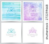 Two Floral Ornamental Logo On...