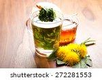 herbal tea with fresh dandelion ... | Shutterstock . vector #272281553