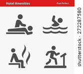 hotel amenities icons.... | Shutterstock .eps vector #272287580