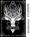 hipster style deer hand drawn... | Shutterstock .eps vector #272289098