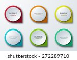 vector modern colorful bubble... | Shutterstock .eps vector #272289710