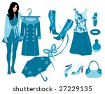 blue outfit   Shutterstock .eps vector #27229135
