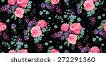 classic wallpaper seamless... | Shutterstock .eps vector #272291360