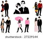 couples | Shutterstock .eps vector #27229144