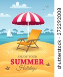 bright summer holidays poster... | Shutterstock .eps vector #272292008