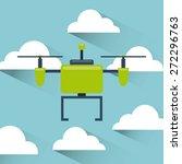 drone technology design  vector ... | Shutterstock .eps vector #272296763