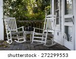 two old rocking chairs on the... | Shutterstock . vector #272299553