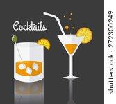 cocktail design over gray... | Shutterstock .eps vector #272300249