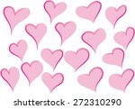 heart shapes | Shutterstock .eps vector #272310290