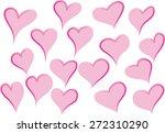 heart shapes | Shutterstock .eps vector #272310290