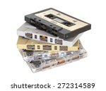 Group Of Old Cassette Tapes On...