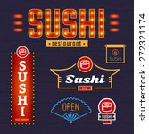 luminous signs sushi. vector... | Shutterstock .eps vector #272321174