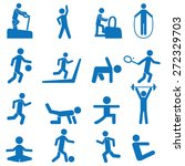 people fitness icons | Shutterstock .eps vector #272329703