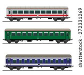 passenger train cars. detailed... | Shutterstock .eps vector #272331269