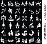 black and white disability and...   Shutterstock . vector #272331830