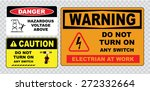 high voltage sign or electrical ... | Shutterstock .eps vector #272332664