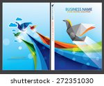 annual report cover design | Shutterstock .eps vector #272351030