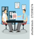job interview concept | Shutterstock .eps vector #272358176