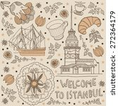 istanbul. background with text | Shutterstock .eps vector #272364179
