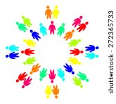 multicolored people in the... | Shutterstock .eps vector #272365733