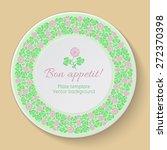 floral circular pattern.... | Shutterstock .eps vector #272370398