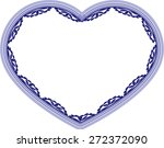 lace with heart shape | Shutterstock .eps vector #272372090