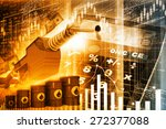 oil price graph  oil pump... | Shutterstock . vector #272377088