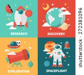 space theme banners and cards... | Shutterstock .eps vector #272381096