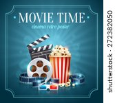 realistic cinema movie poster... | Shutterstock .eps vector #272382050