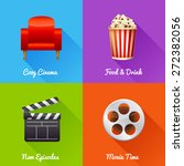 cinematography set of square... | Shutterstock .eps vector #272382056